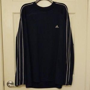 Adidas long sleeve shirt, black and white stripe